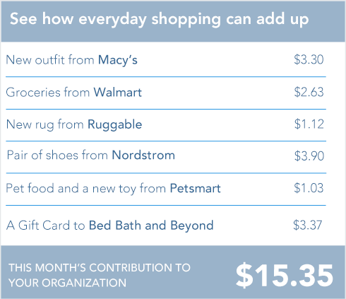 Shopping for a cause adds up over time.