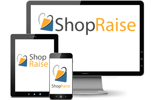 Online fundraising on a desktop computer, tablet, or mobile phone